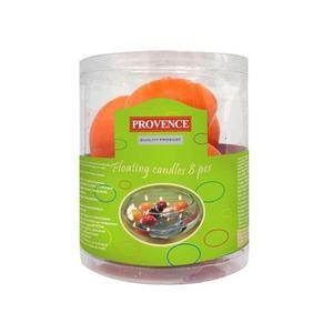 Provence Svíčky plovoucí 8 ks oranžová, 4, 3 x 2, 8 cm obraz
