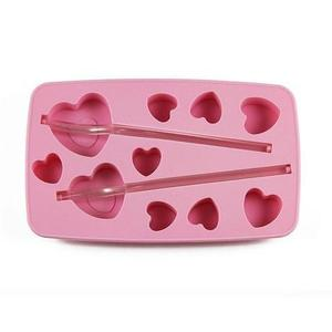 TORO Forma silikon na led s brčkem, srdce, růžová obraz