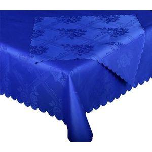 Forbyt, Ubrus s nešpínivou úpravou, Protiskluzový Růže komplet, modrý, 1 ks + 4 ks obraz