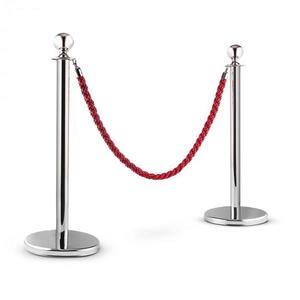 OneConcept Silver Gate, stříbrná/červená, vodicí systém osob, 2 oddělovací sloupky a lano obraz