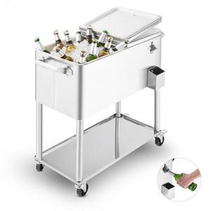 Blumfeldt Springbreak 2000, vozík na nápoje, chladící vozík na terasy, 80 l, ušlechtilá ocel obraz