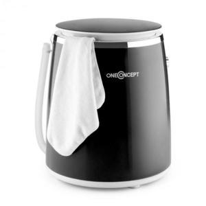 OneConcept Ecowash-Pico, černá, mini pračka, funkce ždímání, 3, 5 kg, 380 W obraz