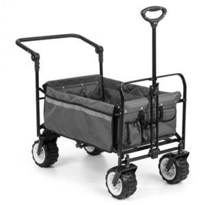 Waldbeck Easy Rider, tahací vozík, do 70 kg, teleskopická tyč, sklopný, šedý obraz