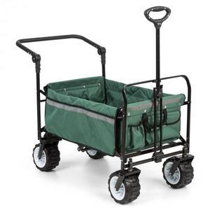 Waldbeck Easy Rider, tahací vozík, do 70 kg, teleskopická tyč, sklopný, zelený obraz