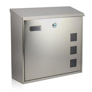 RICHTER BK703.G Poštovní nerezová schránka Cube, stříbrná obraz