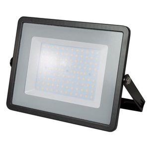 LED Solution Černý LED reflektor 100W Premium Barva světla: Teplá bílá obraz
