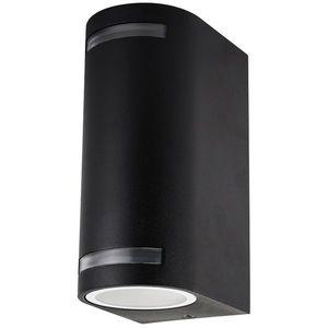 Ecolite Černé fasádní svítidlo 2x GU10 obraz