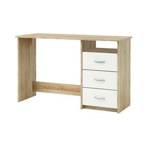 Psací stůl dub/perleťově bílá obraz
