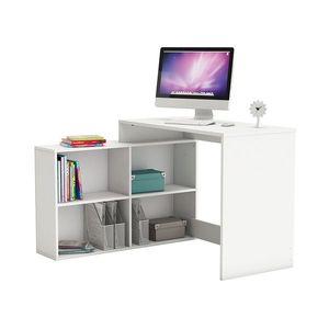 Rohový psací stůl CORNER bílý obraz