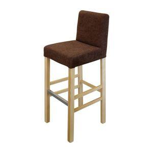 Barová židle BARI buk/tmavě hnědá obraz