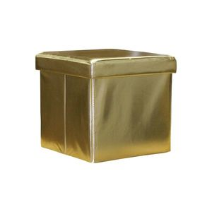 Sedací úložný box zlatý obraz