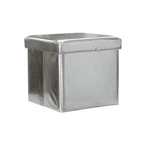Sedací úložný box stříbrný obraz