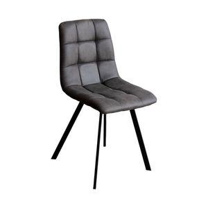 Jídelní židle BERGEN šedé mikrovlákno obraz