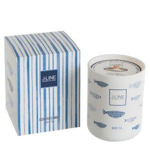 J-Line by Jolipa Vonná svíčka Blue Fish White Tea - 80hodin obraz