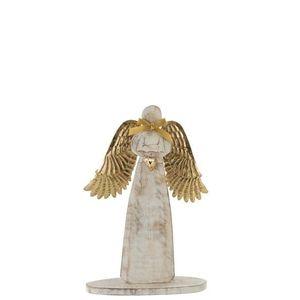 Dřevěný anděl se zlatými křídly - 28*38*2cm obraz
