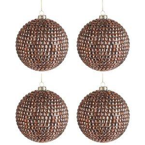 Vánoční ozdoba koule Copper Glass - Ø 10cm - sada 4ks obraz