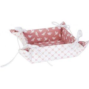 Textilní oboustranný košíček na pečivo Fly Away - 40*40 cm obraz