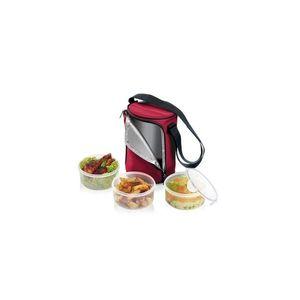 Tescoma jídlonosič FRESHBOX, se 3 dózami 0.8 l, bordeaux obraz