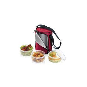 Tescoma jídlonosič FRESHBOX, se 3 dózami 1.5 l, bordeaux obraz