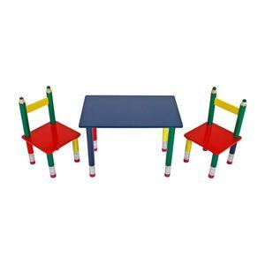 Dětský stůl, modrá obraz