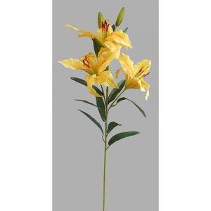 Umělá květina Lilie, žlutá obraz