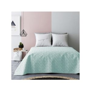 Přehoz na postel NEXT Mint & Light grey 220x240 cm (přehoz na postel) obraz