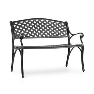 Blumfeldt Pozzilli BL, zahradní lavička, litý hliník, odolná vůči nepřízni počasí, černá obraz