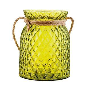 Zelený svícen na čajovou svíčku - Ø 12*15 cm obraz