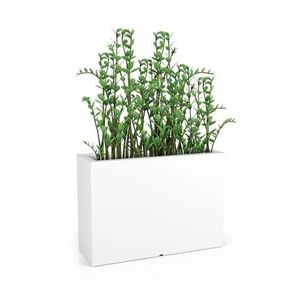 MONUMO Květináč Longerino s osvětlením bílý obraz
