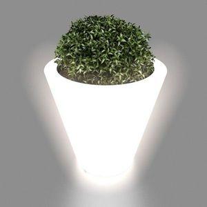 MONUMO Květináč Ovo s osvětlením bílý obraz