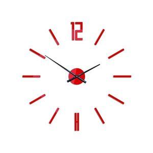 Mazur 3D nalepovací hodiny Carlo červené obraz
