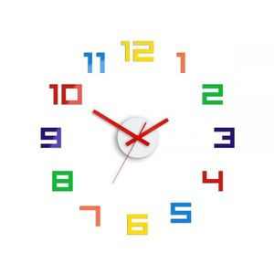Mazur 3D nalepovací hodiny Digit barevné obraz
