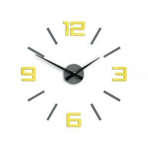 Mazur 3D nalepovací hodiny Reden šedo-žluté obraz