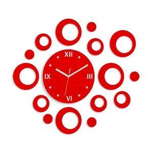 Mazur 3D nalepovací hodiny Rings červené obraz