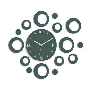 Mazur 3D nalepovací hodiny Rings šedé obraz