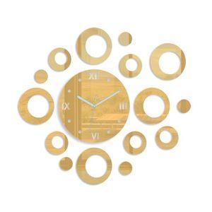 Mazur 3D nalepovací hodiny Rings zlaté obraz