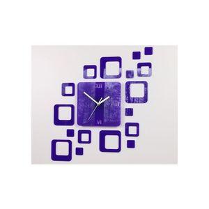 Mazur 3D nalepovací hodiny Roman Quadrat fialové obraz