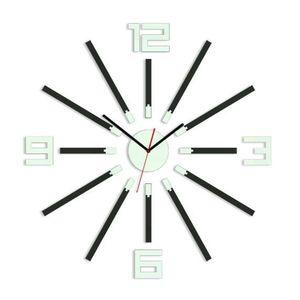 ce61a3c7b Mazur 3D nalepovací hodiny Otto wenge (33 kousků) - DomovNabytek.cz