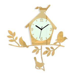 Nástěnné hodiny Birds obraz