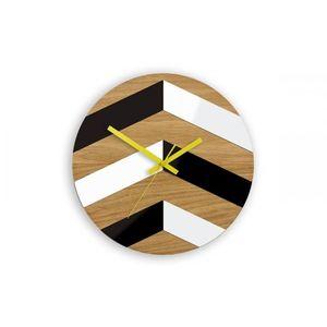 Mazur Nástěnné hodiny CikCak hnědo-černé obraz
