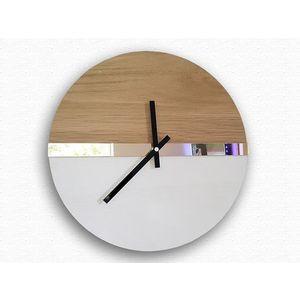 Mazur Nástěnné hodiny Dab hnědé obraz