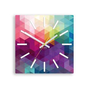 Mazur Nástěnné hodiny Expressio barevné obraz