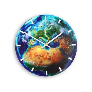 Mazur Nástěnné hodiny Globe modré obraz