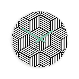 Mazur Nástěnné hodiny Hektor černo-bílé obraz