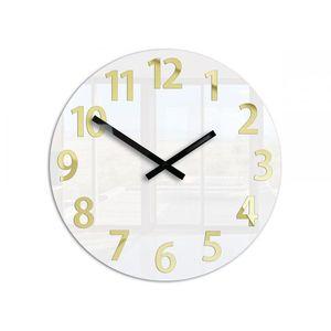 Mazur Nástěnné hodiny Karda bílé obraz
