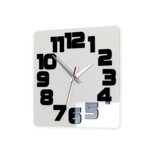 Mazur Nástěnné hodiny Logic bílo-černé obraz