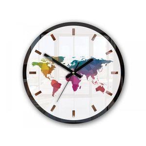 Mazur Nástěnné hodiny Map barevné obraz