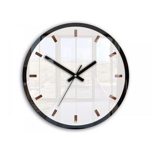 Mazur Nástěnné hodiny Rolo bílé obraz