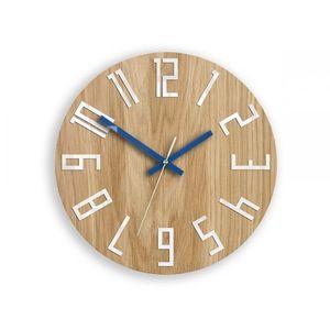 Mazur Nástěnné hodiny Slim hnědo-modré obraz