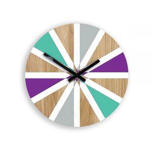 Mazur Nástěnné hodiny Vento barevné obraz
